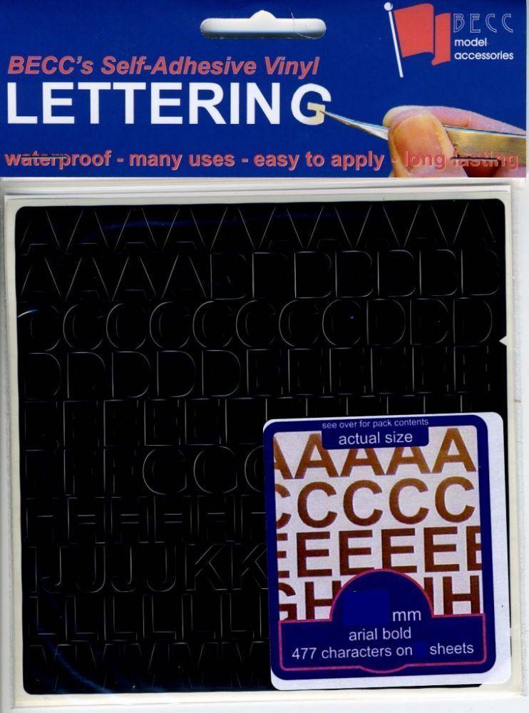 BECC 10mm White Vinyl Lettering VL10White