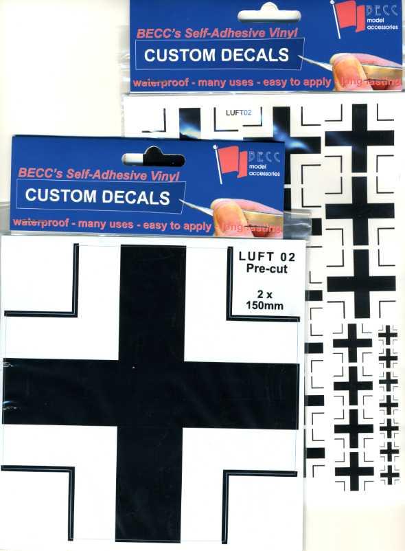 Becc Luft02 Multisize A5 Pre-Cut Model Decals