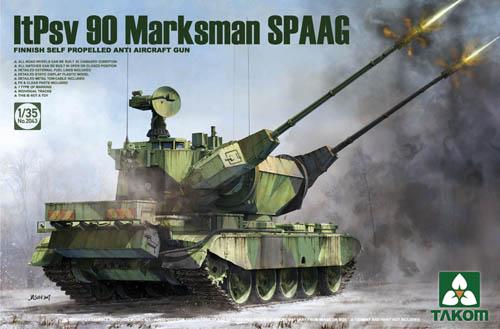 Takom ItPsv 90 Marksman SPAAG Finish Self Prpelled Anti-Aircraft Gun 1 35 2043