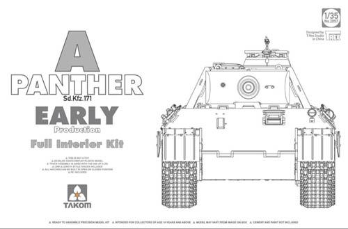 Takom 1 3 5 Panther un Sd.Kfz.171 (Presto) con Interno 02097