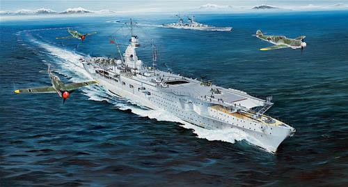 Trumpeter German Navy Aircraft Carrier  Peter Strasser  1 350 05628
