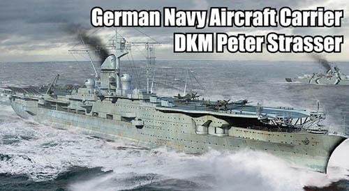 Trumpeter 1 700 German Navy Aircraft Carrier DKM Peter Strasser 06710