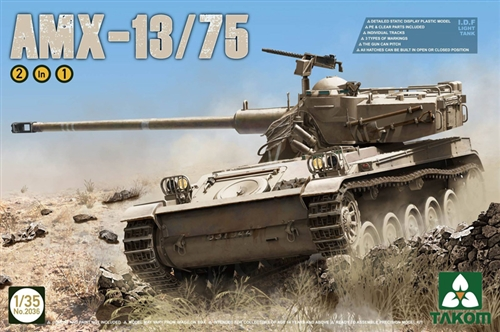 Takom 1 35 AMX-13 75 Light Tank IDF 2 in 1
