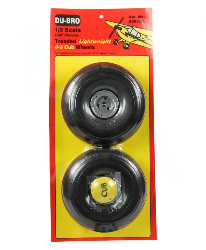 DUBRO db558tlc J3 CUCCIOLO 1/3 SCALA peso leggero Ruote 5.1.6cm COPPIA